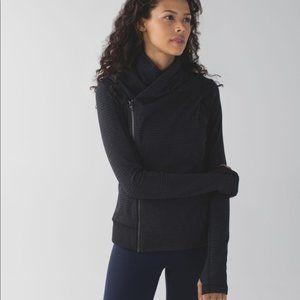 Lululemon Bhakti Yoga Jacket in Slate/Black